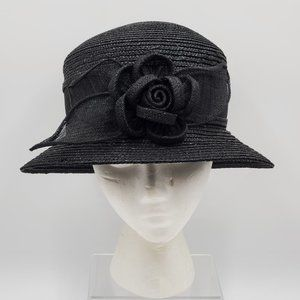 Betmar New York Straw Hat, Flower Accent Adornment